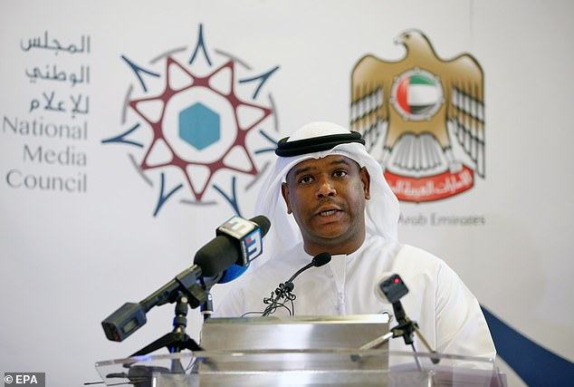 Jaber Al Lamki, executive director of media and strategic communication of national media announcing the release of Matthew Hedges last month, but he reiterated Mr Hedges was not going home an innocent man and was guilty of 'espionage'