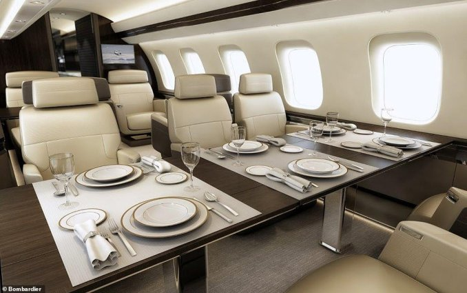 Bombardier's designers were able to produce a layout that's an industry first – a cabin with four separate living spaces