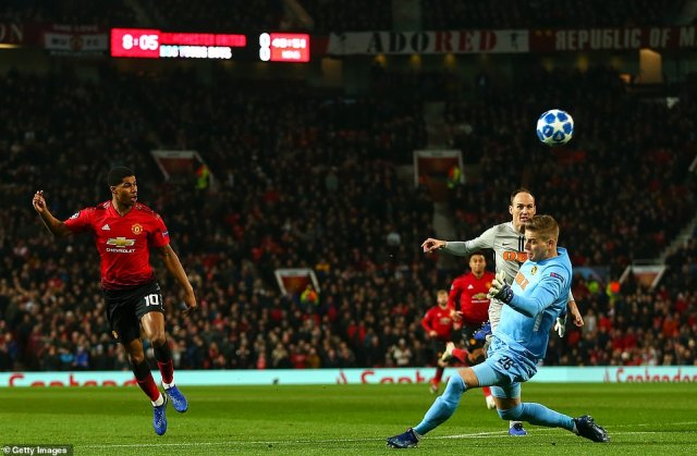 Marcus Rashford had missed the best of United's chances as their Champions League campaign looked like stuttering again