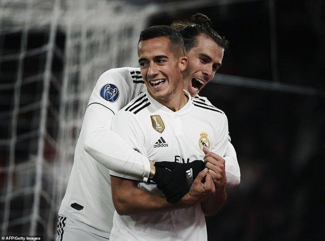 Welsh forward Gareth Bale and Spain international Lucas Vazquez scored for defending European champions Real