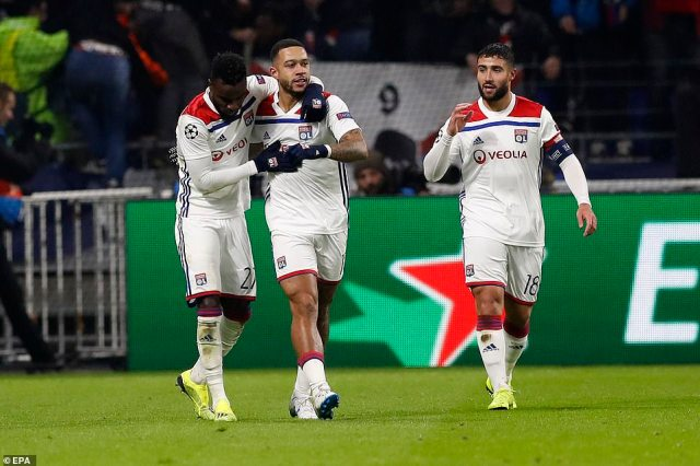 Victory for Lyon would have put them in top spot ahead of City heading into the final game of the group stage