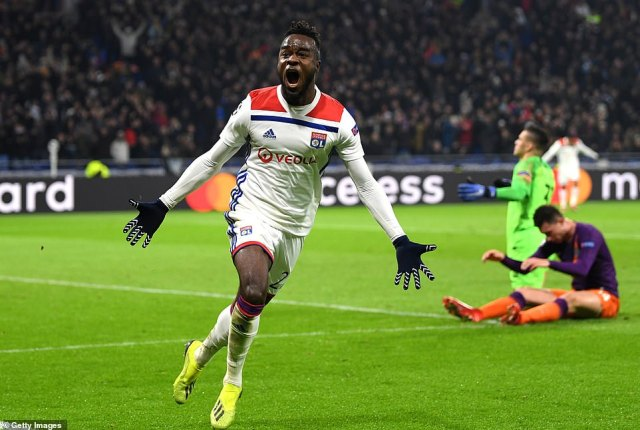 Maxwel Cornet thought he scored the winning goal for Lyon in the 81st minute at the Groupama Stadium on Tuesday night