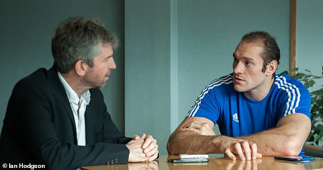 Fury caused outrage for comments he made in an interview with Sportsmail's OLIVER HOLT (L)