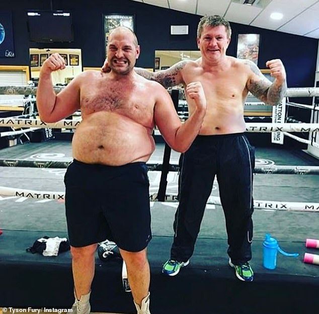 During more than two years out of the ring, the ex-heavyweight champion ballooned up to 28st