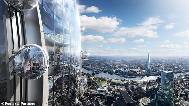 London City said National Air Traffic Control noted 'the gondolas will be moving and therefore may have a slightly different effect than a static element of the building'.