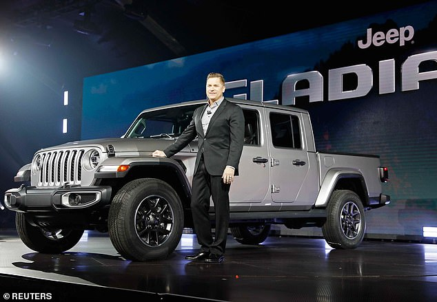 """Tim Kuniskis (pictured), head of Jeep Brand North America, said the car was """"undoubtedly a truck and immediately recognizable as a Jeep."""""""