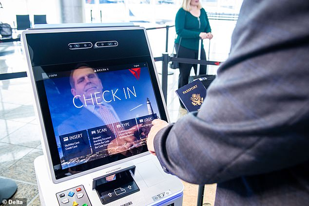Getting through airport security is now as simple as scanning your face.Delta Air Lines today launched the first 'biometric terminal' in the US at Atlanta's Hartsfield-Jackson airport