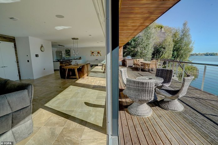 The sliding doors mark the point between the interior and exterior of the main living area