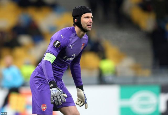 Veteran goalkeeper Petr Cech had a very quiet evening in between the posts for Arsenal against the Ukrainian outfit