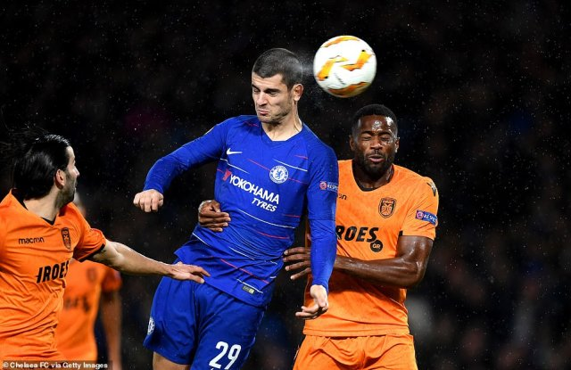 Alvaro Morata came off the bench to round off proceedings, heading homeHudson-Odoi's fine cross from the right