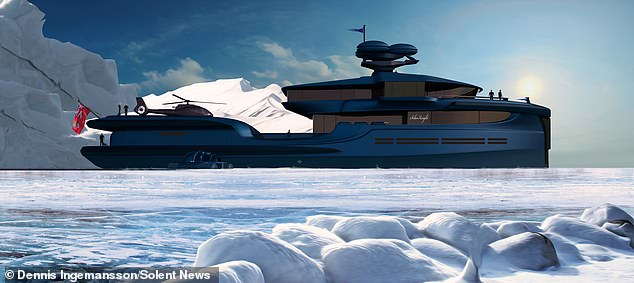In case there's no sun, another superyacht, The Green Expedition (pictured), can be assisted by its retractable wind and wave turbines, as well as the skysail, which is a kite-like rig capable of propelling the ship