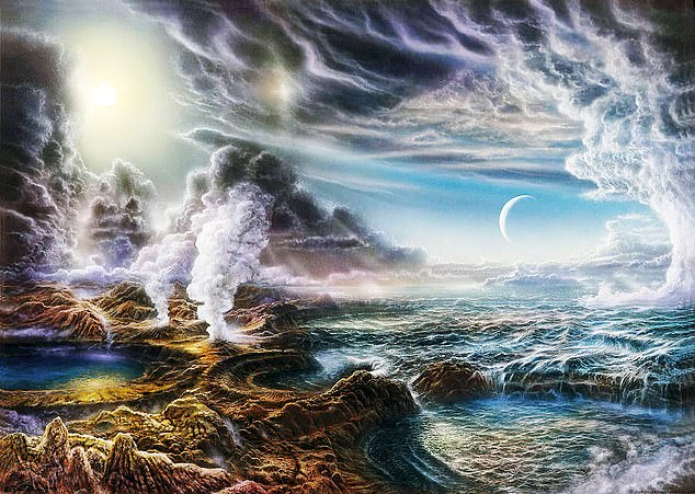 DNA is the backbone of life and almost all of our planet depends on it but, on primordial Earth (artist's impression pictured), a primitive version of its lesser-known sister was the focal point, scientists have discovered.Inosine, not guanasine, enabled RNA to replicate with high speed and few errors, Harvard scientists claim