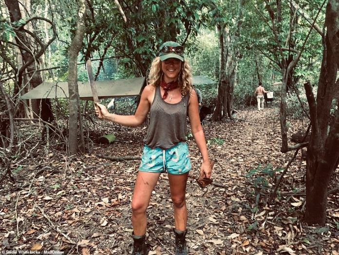MailOnline Travel's Sadie Whitelocks spent almost two weeks sleeping in a hammock in Guyana. In order to put her hammock up, Sadie said she had to hack down any obstructing pieces of foliage using her sharp machete