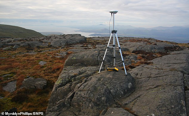 The hill-walkers carried out the survey using sophisticated Trimble GeoXH 6000 equipment, which works in a similar way to a car's satellite navigation system as it collects data from orbiting satellites, making it capable of much more accuracy in both height and position