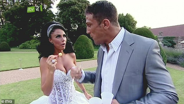 Second roll of the dice: Katie's second marriage, to cage fighter Alex Reid, took place at the Wynn Hotel in Las Vegas, with a formal wedding following soon after in 2010