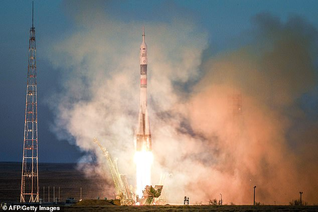 Russia might have just put a new secret weapon into orbit as part of a scheduled launch, according to a new report (file photo, Soyuz)
