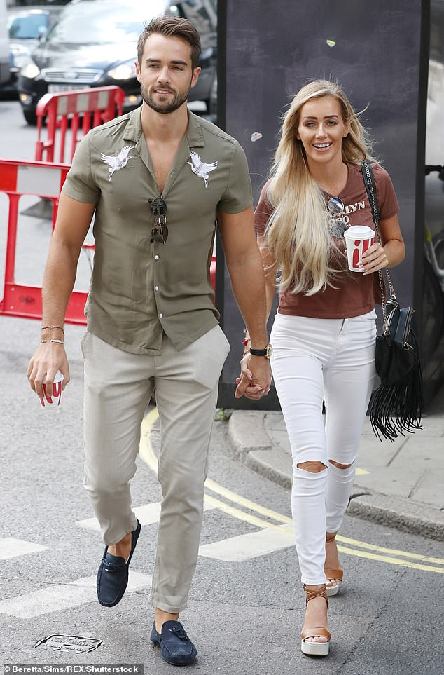 Over:In the wake of their split Paul had claimed Laura had cheated on him with current beau Max Morley, something which Laura vehemently denied. She in turn blamed the split on conflicting schedules (pictured in August 2018)