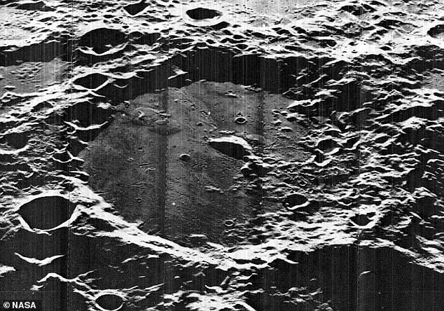 It will visit an unexplored region of the lunar surface called the South Pole-Aitken Basin (pictured), located in the southern hemisphere of the moon