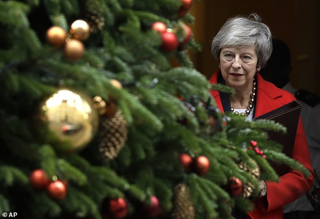 Commons Leader Andrea Leadsom confirmed it would be published around 11.30am today with 'regret' after Theresa May (pictured in Downing Street yesterday) suffered an historic triple defeat in the Commons.