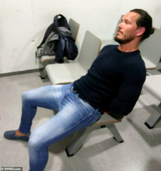 Jamie Acourt has been part of a drug-dealing gang after being extradited from Spain. He is pictured in custody in Barcelona