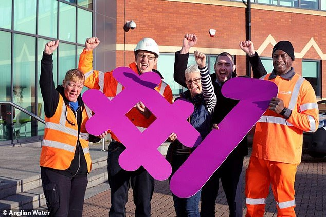 Anglian took first place as the best employer of 2019, based on staff reviews