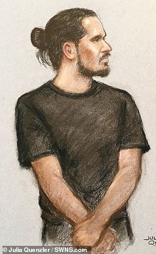 Jamie Acourt, pictured in a sketch from a previous hearing