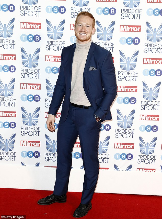 Greg Rutherford at the Pride of Sports Awards - won gold in the long jump at the 2012 Olympics