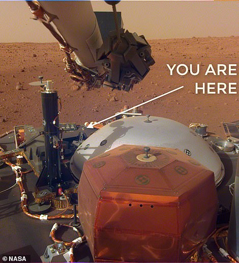 We're in MARS, guys, the InSight Twitter account released today. ¿You are all honorary Martians.
