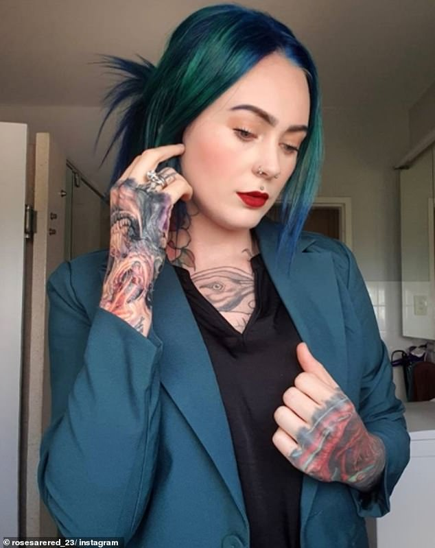 When she went through medical school she was conscious of having visible tattoos as she feared colleagues and patients wouldn't take her seriously