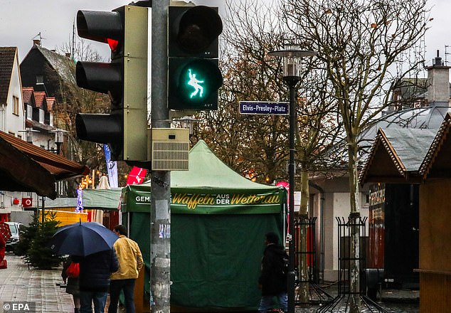 Friedberg, north of Frankfurt, already has an 'Elvis Presley Platz' - Elvis Presley Square. He was stationed at the U.S. Army's Ray Barracks in the town from October 1958 to March 1960