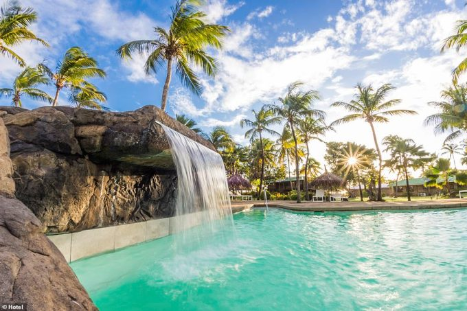 The resort offers myriad swimming options - there are five beaches and a stunning outdoor pool (pictured)