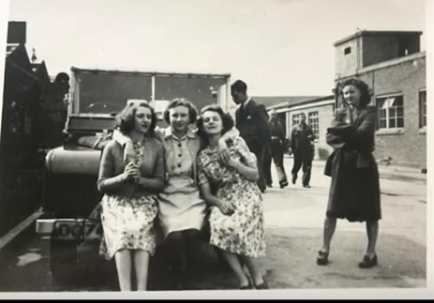 Dorothy with her friends at Land Rover - then again Rover - at the end of the years & # 39; 40