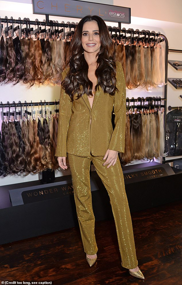 New venture: The news comes after Cheryl launched her new Easilocks hair extensions late last week