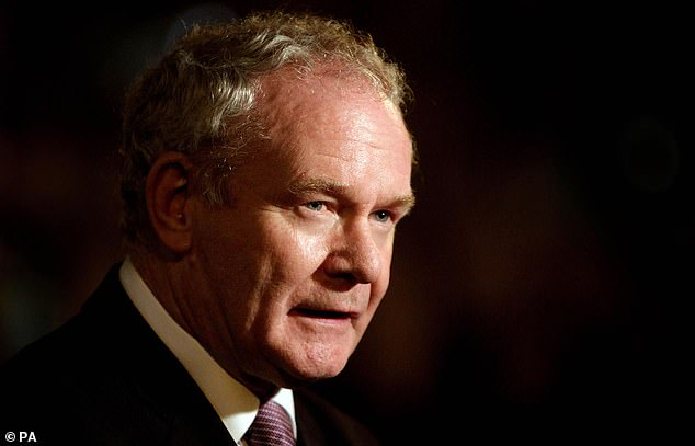 Osamor forged links with revolutionaries such as Martin McGuinness (pictured above), the late Sinn Fein politician and leading figure in the IRA