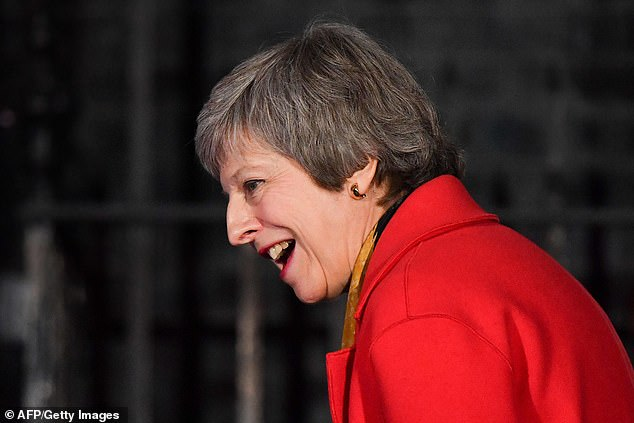 Theresa May attending the switch on of the Christmas lights outside 10 Downing Street this week