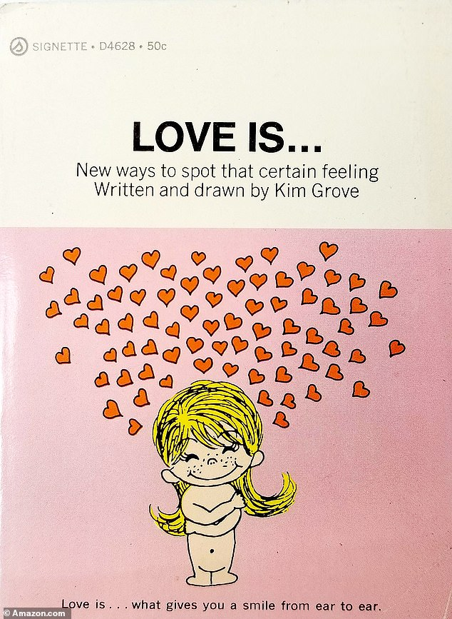 The gift turned out to be a small book called 'Love Is: New Ways To Spot That Certain Feeling' with a cartoons and sayings about love