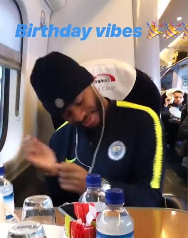 Manchester City played a birthday as captured by Fabian Delph on Instagram