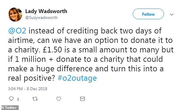 D'autres personnes ont suggéré que l'argent devrait être donné à une œuvre de charité et cela pourrait faire une énorme différence