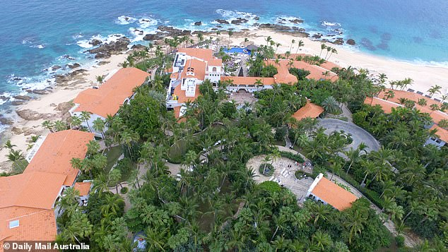 Wedding venue: Karl, Jasmine, and their guests are currently staying at the luxury resort ahead of the December 8 nuptials