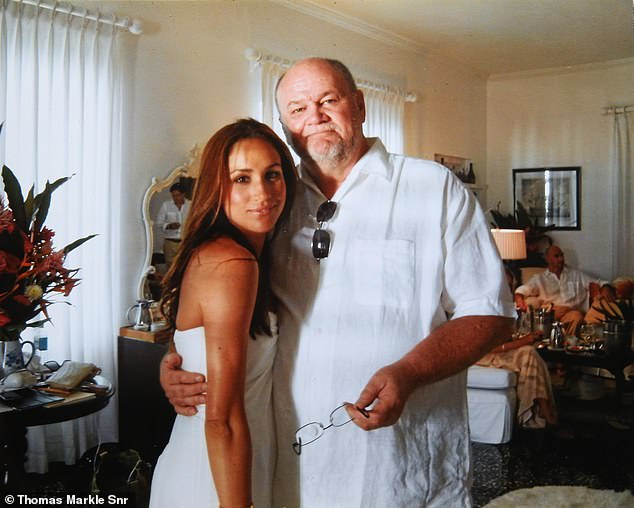 In an exclusive interview, Thomas Markle revealed this photo of himself with his daughter at her first wedding - banishing rumours he didn't attend