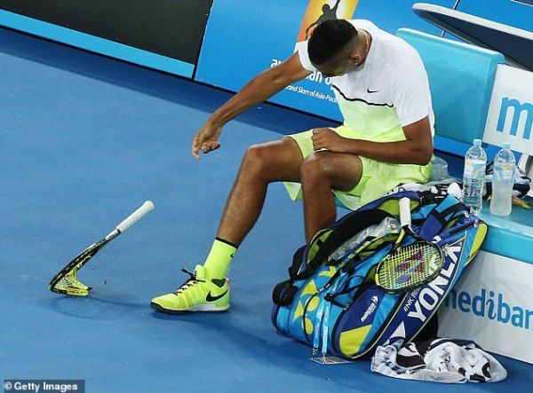 Nick Kyrgios' most bizarre on-court meltdowns | Daily Mail ...