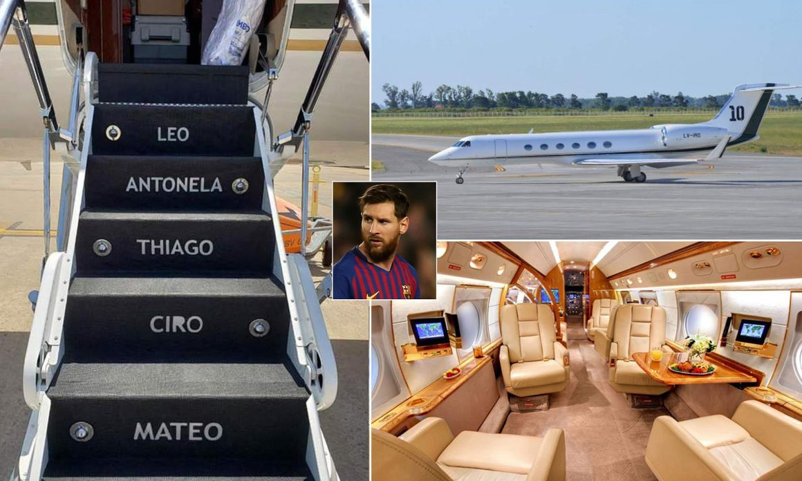 Inside Lionel Messi's staggering new £12m private jet | Daily Mail Online