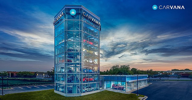 Seven Story Car Vending Machine That Dispenses Vehicles