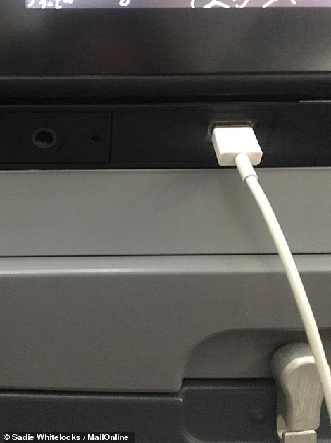 Sadie was impressed by the service and little extras, like USB sockets on every seat back