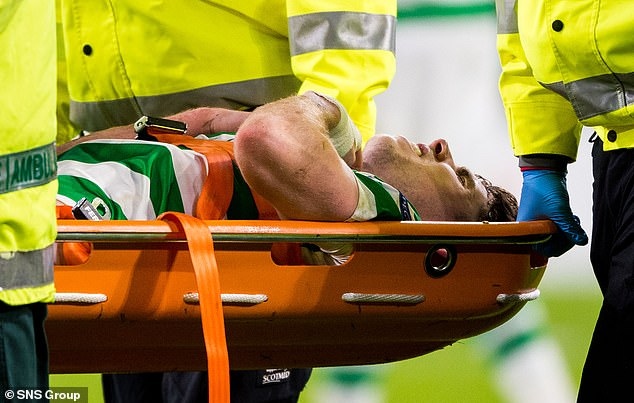 Ryan Christie was carried off on a stretcher against Salzburg but is back in training