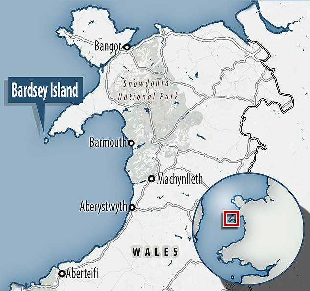 The 1.5 mile-long island was a Christian pilgrimage site in the Middle Ages - when three visits to Bardsey were said to equal one to Rome