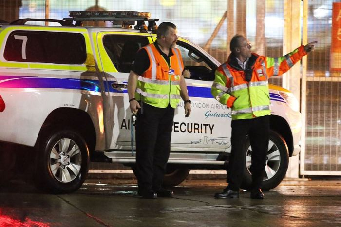 The chaos is set to spill over this morning as airport security were deployed at the scene last night as flights were downed at Gatwick