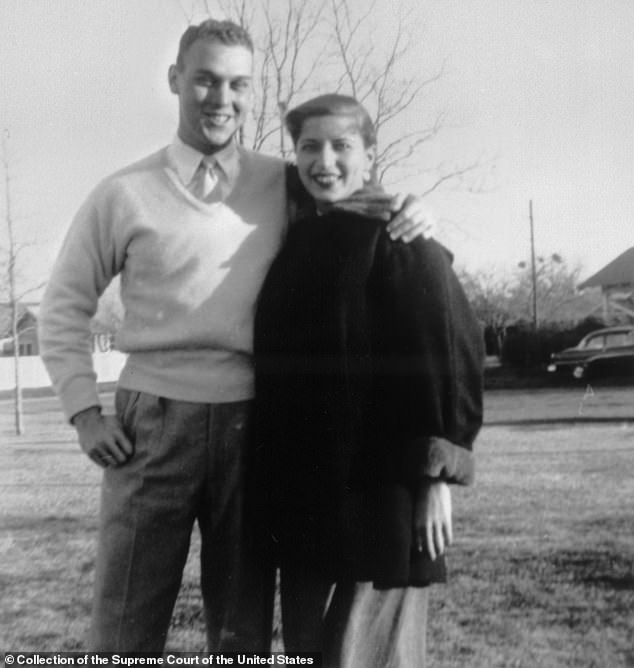 Above, Martin D. Ginsburg (left) and Ruth Bader Ginsburg (right) at Fort Sill, Oklahoma in 1954. They were married for 56 years and met while they both attended Cornell University. After graduating, the couple moved to Fort Sill so Martin could do his military service