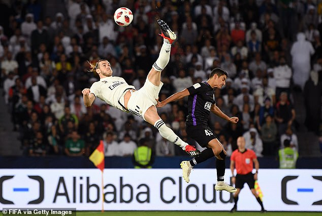 Gareth Bale scored an overhead kick in the Champions League final and attempted one here