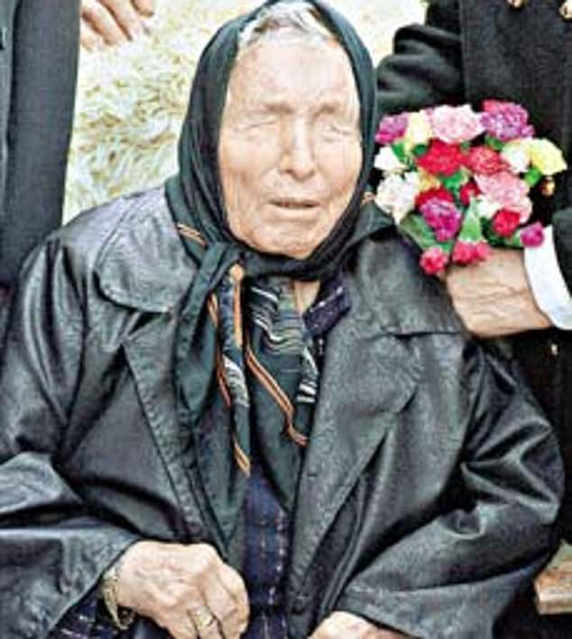 Mystic:Baba Vanga (pictured) has become a cult figure among conspiracy theorists after some of her pronouncements proved eerily true